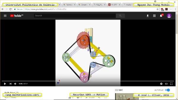 Simulación Cinemática Tang_BeltDrive13Inv-v8r5 con Recurdyn - RotaT