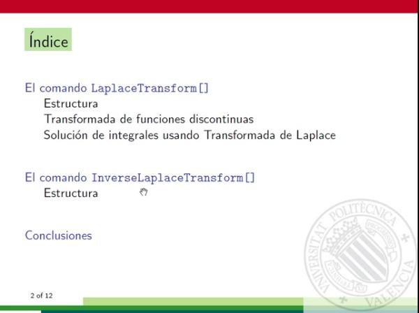 Transformada de Laplace con Mathematica