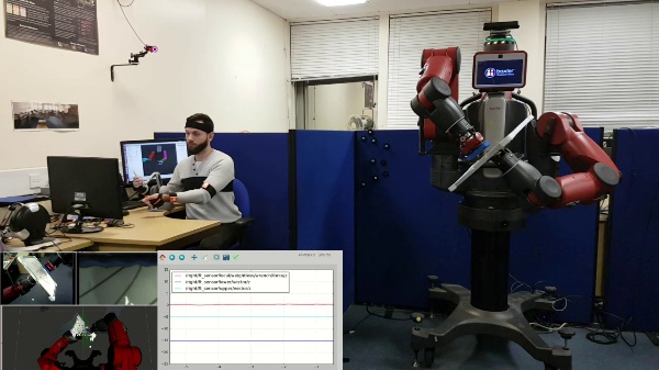 Dual-Arm Teleoperation Combining Haptics and Motion Capture