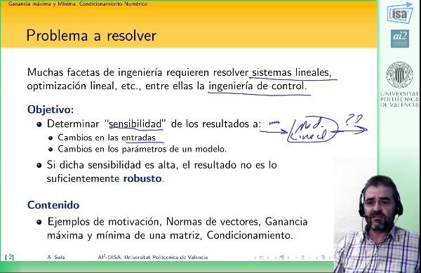 Condicionamiento Numérico: Introducción y consideraciones en ingeniería de Control