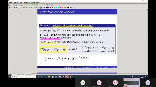 Matemáticas 1 GITI grupo A  Clase 34 (Extremos3)