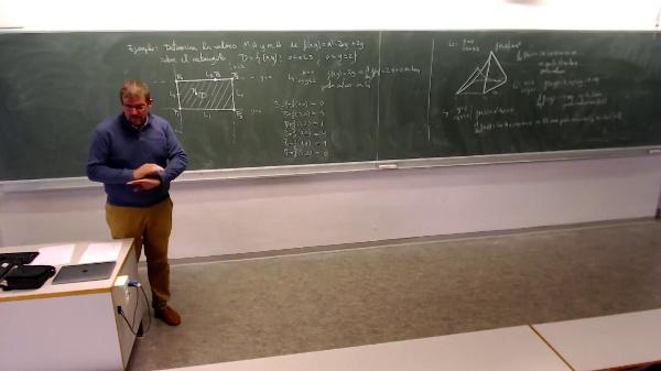 Matemáticas I-32-5-Ejemplo Determinar el máximo y mínimo absoluto sobre el rectángulo (mediante el método de extremos absolutos )