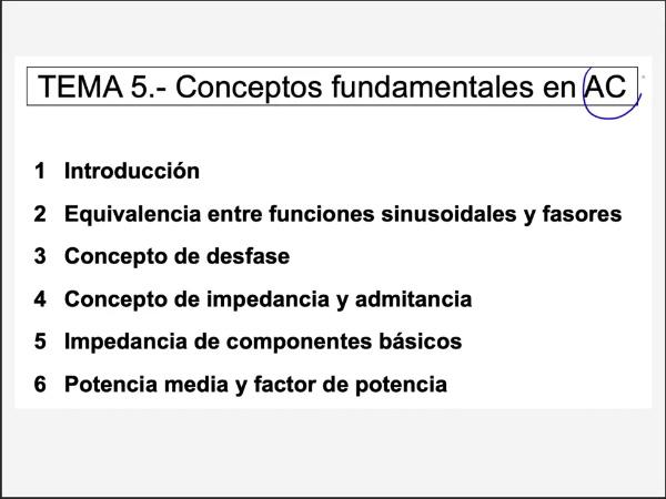 5.6.- Potencia media y factor de potencia en régimen permanente sinusoidal