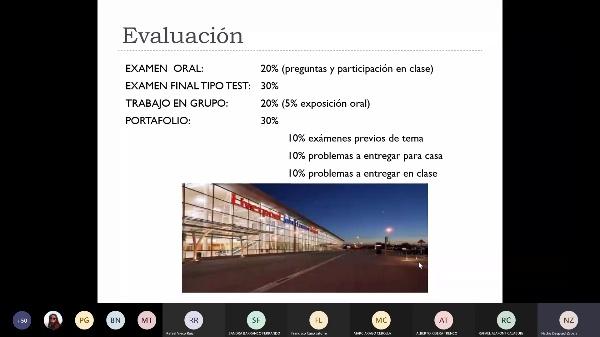 Descripción asignatura Ingeniería aeroportuaria y docencia inversa