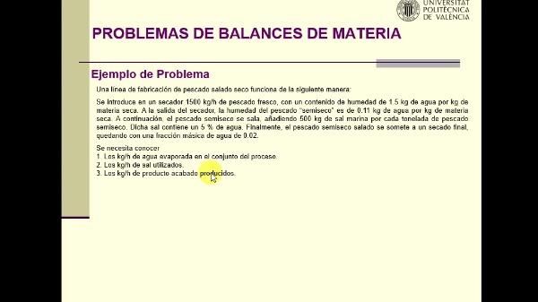 Resolución de secuencial de problemas de balances de materia siguiendo el análisis de grados de libertad.