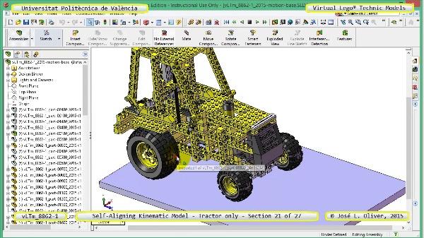 Simulación Dinámica Lego Technic 8862-1 - Tractor - sobre Base - 21 de 27
