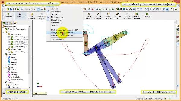 Simulación Mecanismo a-c-0658 con Cosmos Motion - 08 de 12