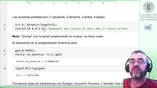 Ejemplo Programación dinámica 2D (2): Iteración de Valor, Programación Lineal