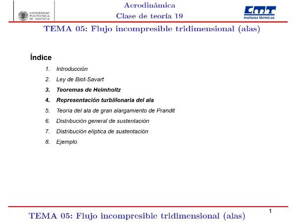 Aerodinámica I, Clase 19