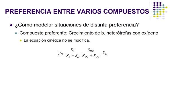 ¿Cómo expresar en las ecuaciones cinéticas el comportamiento preferente de las bacterias por algunos compuestos?
