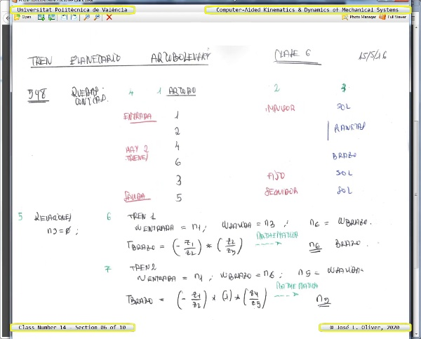 Mecánica y Teoría de Mecanismos ¿ 2020 ¿ MM - Clase 14 ¿ Tramo 06 de 10