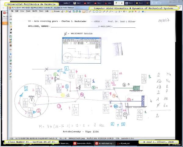 Mecánica y Teoría de Mecanismos ¿ 2020 ¿ MM - Clase 11 ¿ Tramo 09 de 11