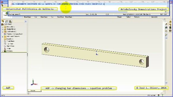 AdP issues bar-dimensions no-audio