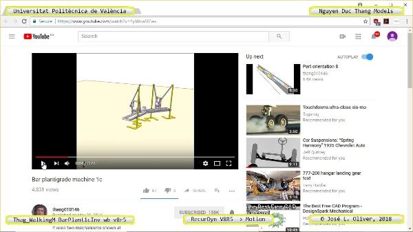 Simulación Cinemática Thag_WalkingM-BarPlant1cInv-wb-v8r5 con Recurdyn - LegTa