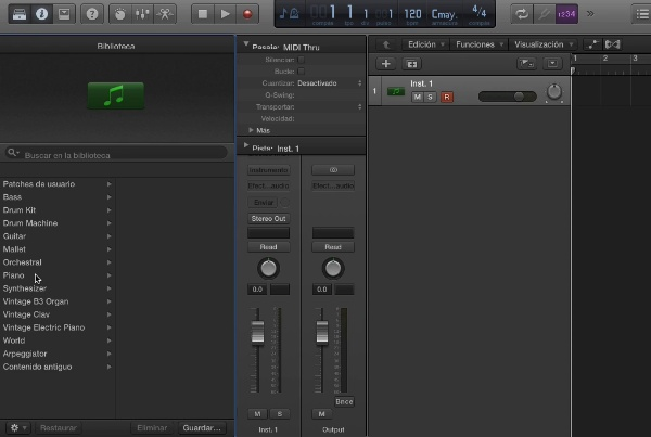 Tutorial Logic X 6.1 Insertar notas MIDI