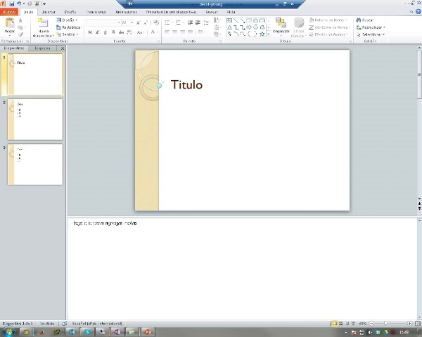 PowerPoint. Tarea 3. Notas y Documentos