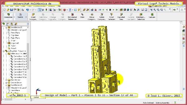 Creación Virtual Modelo Lego Technic 8862-1 ¿ Pieza 1 ¿ 17 de 44