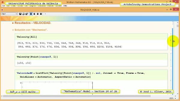 Solución Cinemática Simbólica a-z-1133 con Mathematica - 24 de 26