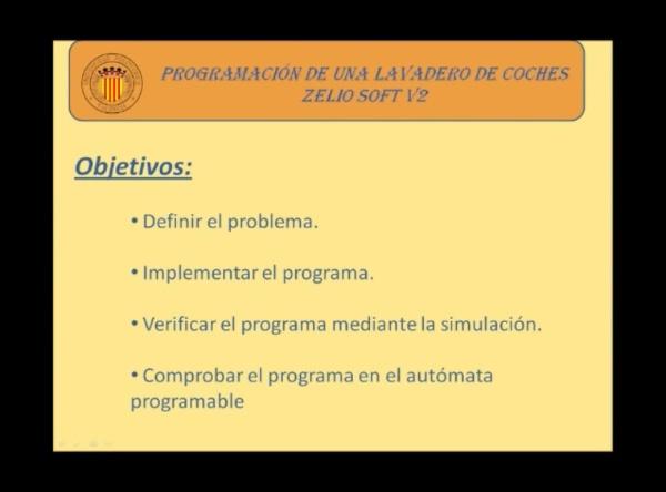 Programación de un lavadero de coches mediante ZelioSoft V2