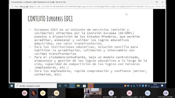 Sesión Paralela. EDCI/EBSI Europass