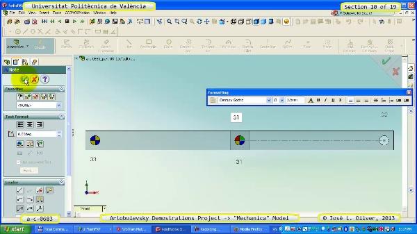Simulación Mecanismo a_c_0683 con Mechanica - 10 de 19
