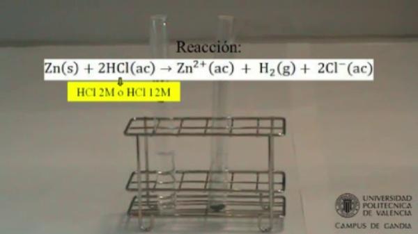 Velocidad de una reacción química: Efecto de la concentración de un reactivo