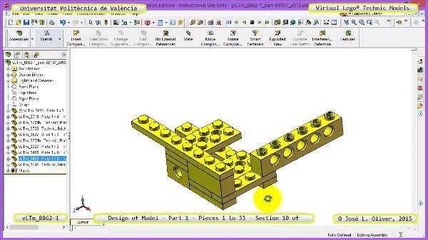 Creación Virtual Modelo Lego Technic 8862-1 ¿ Pieza 1 ¿ 10 de 44