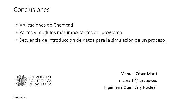 Simulación de procesos químicos con Chemcad: Introducción al software