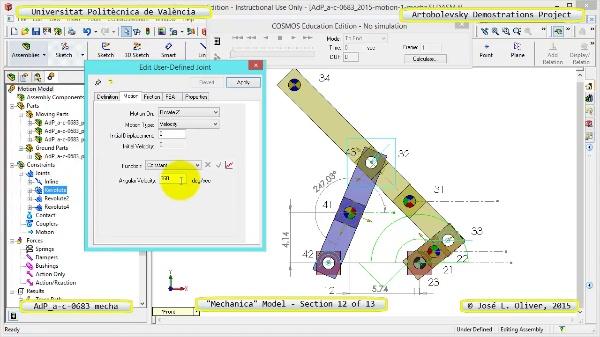 Simulación Mecanismo a-c-0683 con Mechanica - 12 de 13