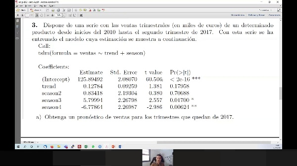 Estimaciones con modelos de serie temporal