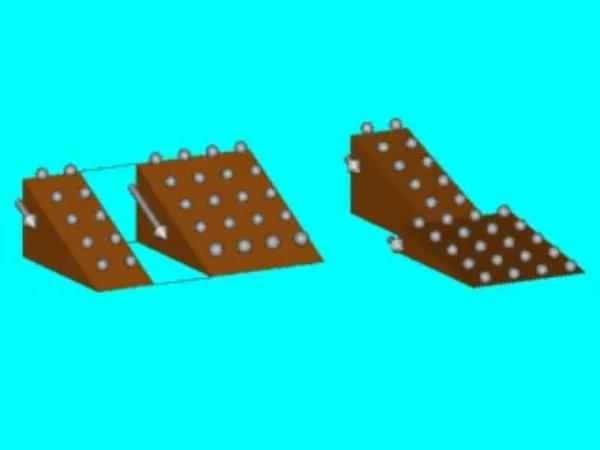 Serie: Analogía mecánica de la intensidad que circula por la asociación en serie de los dos conductores, cuando se les aplica la misma diferencia de potencial