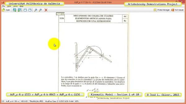 Simulación Mecanismos a-4-1553-0963-1136 con Cosmos Motion - 01 de 10