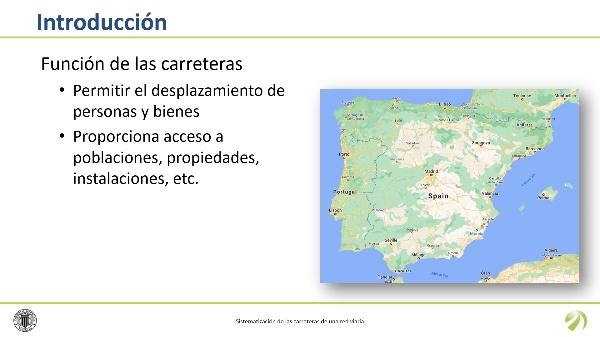 Sistematización de las carreteras de una red viaria
