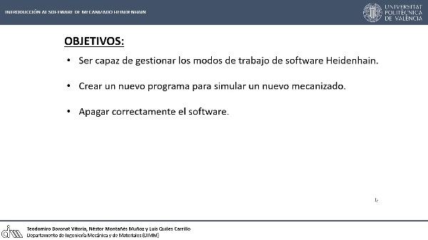 Introducción al software de mecanizado Heidenhain