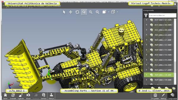 Creación Virtual Modelo Lego Technic 8862-1 ¿ Montaje Modelo ¿ 31 de 44