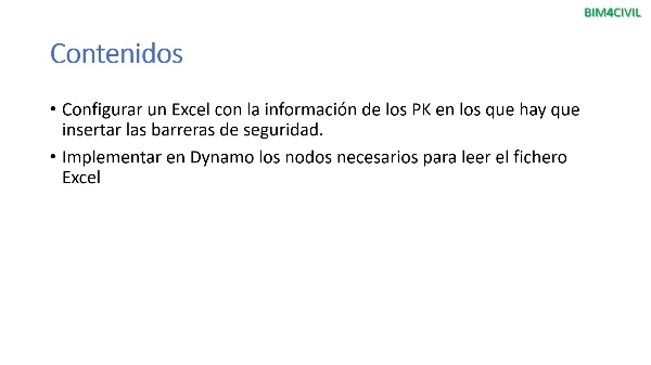 Importación en Excel mediante Dynamo (Civil 3D)
