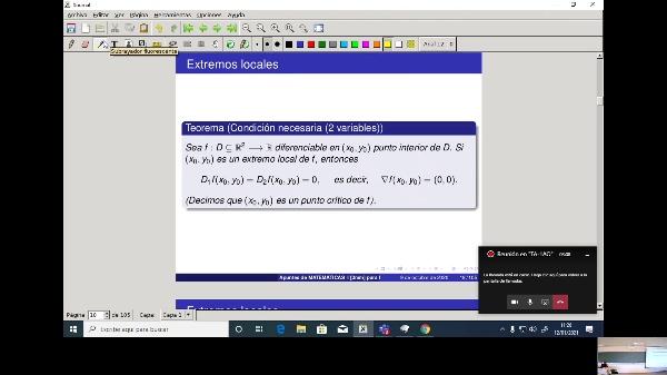 Matemáticas 1 GIOI grupo A  Clase 33 (Extremos 2)