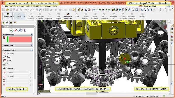Creación Virtual Modelo Lego Technic 8862-1 ¿ Montaje Modelo ¿ 40 de 44