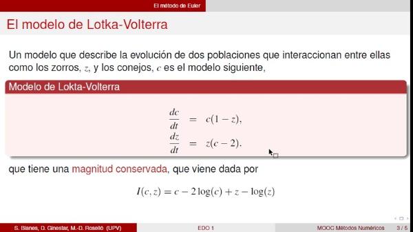 Método de Euler con Octave