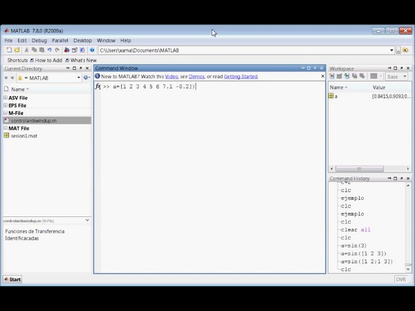 Tutorial Matlab 3. Scripts y bucles