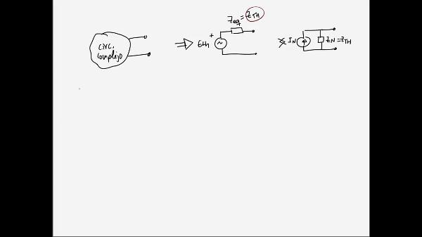 Teoría de Circuitos 1. Lección 6. 5-2 Cálculo de impedancia equivalente R,L,C reducible