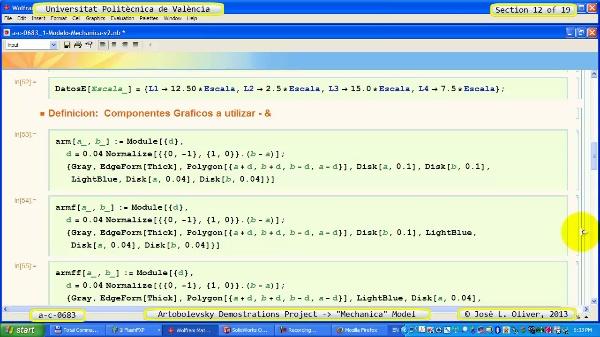 Simulación Mecanismo a_c_0683 con Mechanica - 12 de 19