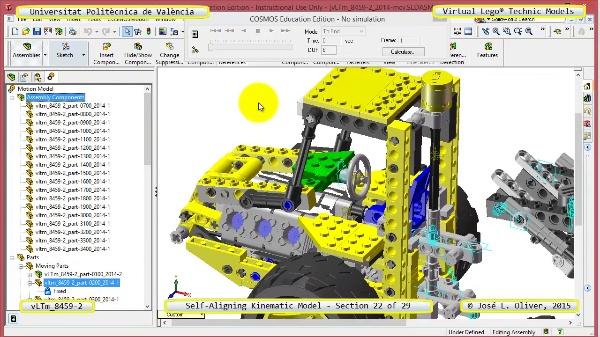 Simulación Cinemática Lego Technic 8459-2 con Cosmos Motion ¿ 22 de 29
