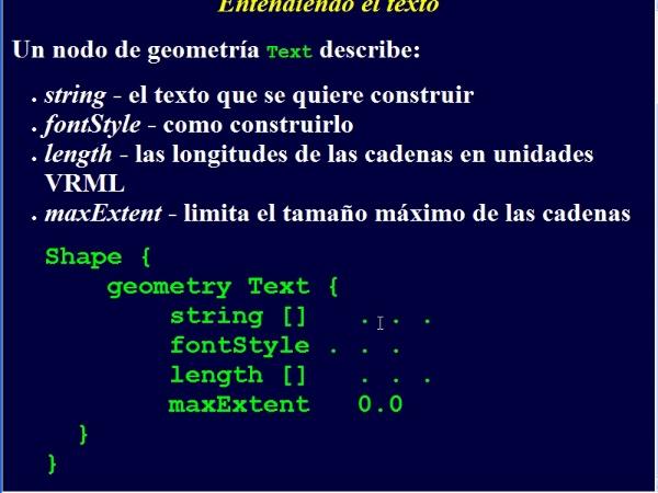 Texto VRML