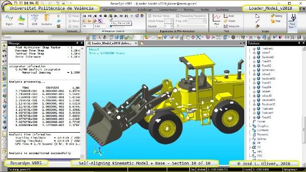 Simulación Dinámica de Cargadora Volvo L70C con Recurdyn V8R5 - 10 de 10