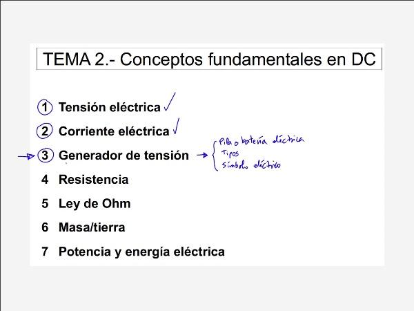 2.3.2.- Generador de tensión. Tipos de generadores