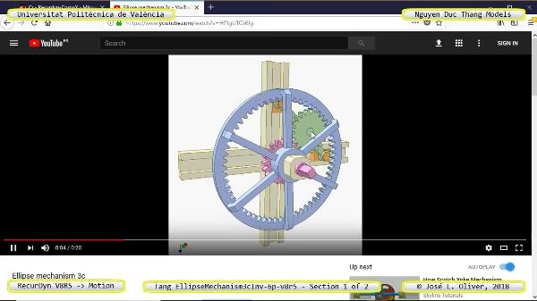 Simulación Cinemática Tang_EllipseMechanism3cInv-6p-v8r5 con Recurdyn - EngTa - 1 de 2