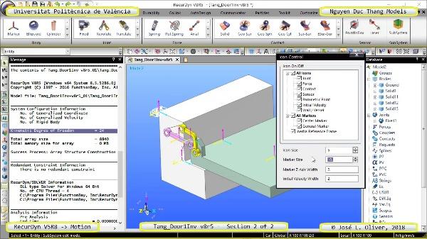 Simulación Cinemática Tang_Door1Inv-v8r5 con Recurdyn - AdP-c - 2 de 2