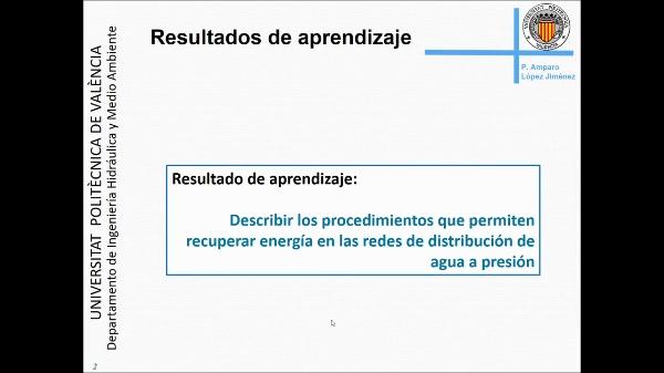 5. ¿Es posible recuperar energía en un sistema de agua a presión?