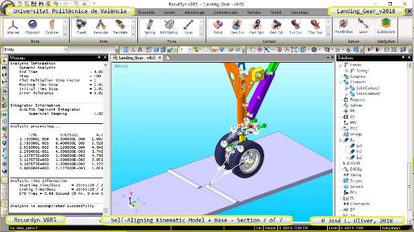 Simulación Dinámica de Tren de Aterrizaje con Recurdyn V8R5 - 7 de 7
